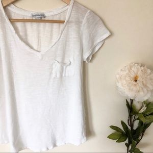 James Peres | Sheer Cotton V Neck Tee